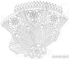 схема,Салфетка круглая ажурная вязаная крючком, очень красивая