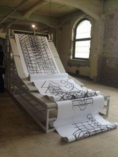 MANIFESTA 9: Carlos Amorales, Coal Drawing Machine, 2012.