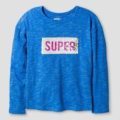 b1a056085 Girls' T-shirtCat & Jack - Capri Blue XS, Girl's Graphic Sweatshirt