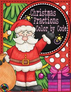 Five color by code worksheets with a Christmas theme. Fractions and equivalent fractions are all represented by pictures. Christmas Math, Christmas Activities, Christmas Colors, Christmas Themes, Christmas Printables, Spring Activities, Math Activities, Teaching Math, Teaching Ideas