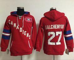 913973363 Montreal Canadiens  27 Alex Galchenyuk Red Women s Old Time Heidi NHL  Hoodie Nhl Jerseys