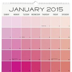 2015 Paper Source Academic Paint Chip Calendar