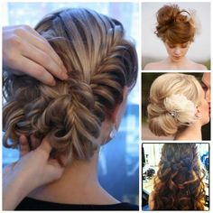 the side braid with the up-do is just gorgeous!
