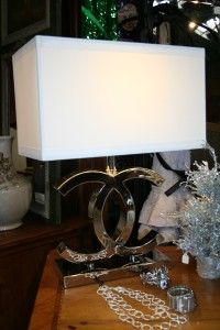 Ahhhh How We Absolutely Adore Chanel! This Gorgeous Chanel Inspired Lamp  Just Adds That