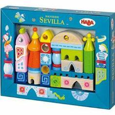 Building Blocks Sevilla - Try painting unfinished blocks in similar fashion.