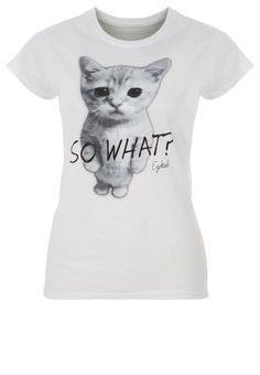 SO WHAT - T-Shirt print - white