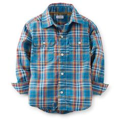 Button-Front Plaid Shirt my son loves this shirt great colors