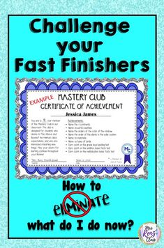 FREE tips to challenge fast finishers. Mrs Renz Class