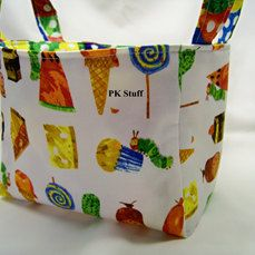 I ordered this basket yesterday. Love it!  PK Fabric Basket in Very Hungry Caterpillar  by PKStuff on Etsy, $14.50