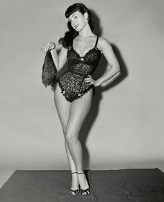 vintage everyday: Bettie Page's black and white photos by Bunny Yeager