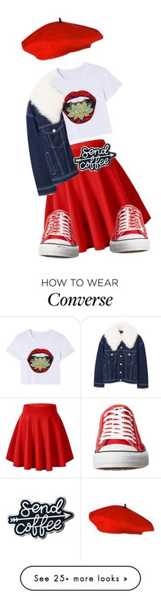 """meet me at the cafe"" by spoiledcrybaby420 on Polyvore featuring MANGO and Converse"