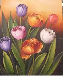 Tulips – Lale Bahçecitapar – Join the world of pin Fabric Painting, Watercolour Painting, Painting Frames, Watercolor Flowers, Painting & Drawing, Pictures To Paint, Art Pictures, Acrylic Artwork, Painting Inspiration