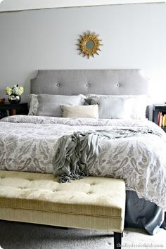 DIY tufted headboard tutorial, totally going to do this for the Master and the girls beds!!