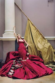 Sophie Dahl in a Dior Couture gown for the December 2004 issue. Photo By Tim Walker