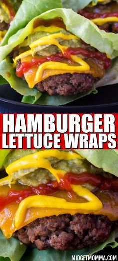 These Hamburger Lettuce Wraps are totally Keto Friendly and perfect for if you are looking for an amazing hamburger while on the Keto diet. Easy to make Hamburger Lettuce Wraps. Lettuce Burgers, Lettuce Wrapped Burger, Lettuce Wraps, Lettuce Recipes, Beef Recipes, Salad Recipes, Healthy Recipes, Grill Recipes, Warm Potato Salads