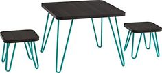 Cosco Betty Retro Style Kids Table and Stools Set, Espresso/Teal Cosco Kids Furniture http://www.amazon.com/dp/B015Q0JEX2/ref=cm_sw_r_pi_dp_3VD.wb1C9JX5G