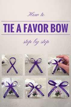 How to tie a perfect bow with favor ribbon. Simple, step-by-step instructions!
