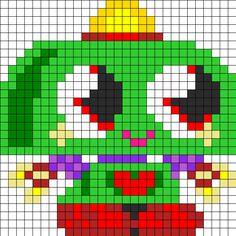 Nipper Moshi Monsters perler bead pattern