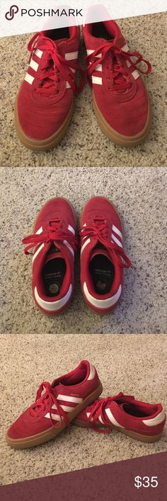Red suede Vans size 6.5 Gently used red suede Addidas. My son took good care of his shoes. Adidas Shoes Sneakers