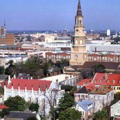 Aerial view of Historic Charleston, SC
