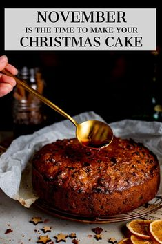 November is the time to make your Christmas cake! An easy Christmas cake that turns out perfect every time. No creaming, beating or soaking of fruit required! Boiled Fruit Cake, Rum Fruit Cake, Chocolate Fruit Cake, Fruit Cakes, Rum Soaked Fruit Cake Recipe, Easy Fruit Cake Recipe, Xmas Food, Christmas Cooking, Christmas Desserts