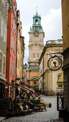 Stockholm, Gamla Stan (old town). Really beautiful, as is Stockholm in general. So stylish, so Scandinavian.