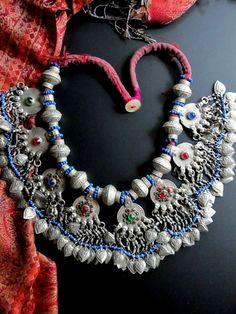 Afghan Kuchi Ethnic Jewelry, Weird Jewelry, Hippie Jewelry, Antique Jewelry, Silver Jewelry, Collar Hippie, Hippy Chic, Bohemian Bracelets, Fantasy Jewelry