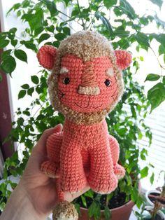 Amigurumi Crochet Toy Pattern LION Crochet Animal Patterns, Crochet Doll Pattern, Stuffed Animal Patterns, Crochet Patterns Amigurumi, Crochet Dolls, Doll Patterns, Knitting Patterns, Pattern Cute, Crochet Lion
