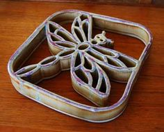 Porcelain Dragonfly Trivet