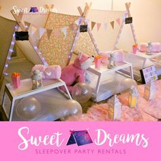 www.sweetdreamsparty.com Girls Birthday Party, Sleepover Party, Girls Glamping, Glamp, Glamping, Sweet Dreams Party, Blush Pink Frenzy, Kids, Kids Party, Kids Birthday Party, Tents, Teepees, DIY tents (scheduled via http://www.tailwindapp.com?utm_source=pinterest&utm_medium=twpin)