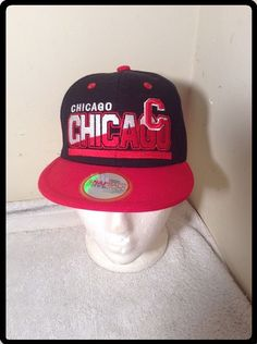 NWT Youth Premium Flat CHICAGO Snapback Hat Bears Bulls Blackhawks   PremiumFlat 5c9c974ceb62