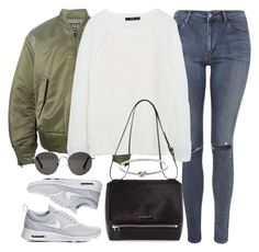 """""""Untitled #1539"""" by sophiasstyle ❤ liked on Polyvore featuring Topshop, adidas Originals, MANGO, NIKE, Givenchy, The Row and Michael Kors"""