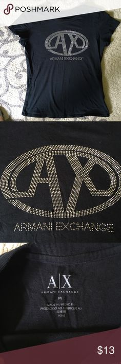 Women's Armani exchange tshirt In perfect condition!! Size medium but this fits more like an extra small. Armani Exchange Tops Tees - Short Sleeve