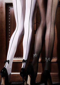 29de87ea88 Wow! Emilio Cavallini - Luxury Edition Collection Seamed Tights Pantyhose  Hosiery Calze Lingerie, Calze