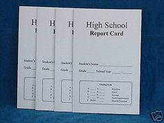 High School Report Card, Pk of 4, Homeschool or School 9th-12th Why Use Grades #RecordKeeping