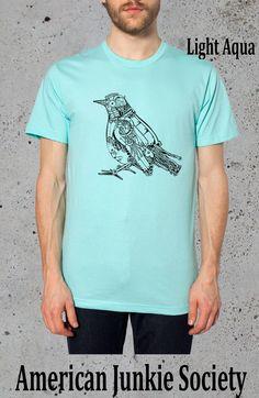 Robot Bird  T Shirt Tumblr Grunge Tees} American Apparel TShirt .Gift For him. Mens Graphic Tee,Boyfriend gifts for him'__()Instagram Like by AmericanJunkieSoc on Etsy https://www.etsy.com/listing/206329585/robot-bird-t-shirt-tumblr-grunge-tees