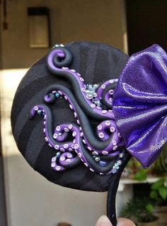 Items similar to The Original Polymer Clay Tentacle Ursula Mouse Ears - Poor Unfortunate Soul Ears Ursula & Ariel on Etsy Disney Diy, Disney Crafts, Disney Love, Disney Mickey Ears, Minnie Mouse, Disney Headbands, Ear Headbands, Ursula, Disney Style