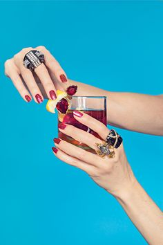 """The Piece Of Statement Jewelry That Says, """"Let's Drink!"""" #refinery29  http://www.refinery29.com/statement-cocktail-rings#slide2"""