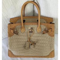 Hermes - Ostrich and crocodile Ghillies Birkin bag. aa0e0fede5de7