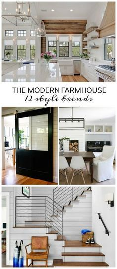 The modern farmhouse trend is here to stay! Check out decor ideas that will bring the modern farmhouse look to any room in your home. Makeover your home with shiplap, barn doors, farmhouse table and reclaimed wood.