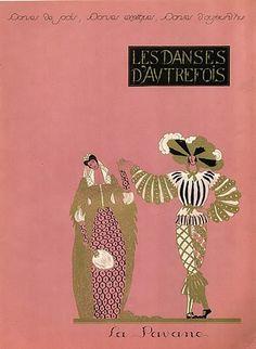 Georges Lepape 1923 Les Danses D'Autrefois Dancers Cancan Pavane Gavotte Epoque Costumes