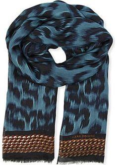 Lara Bohinc Leopard-print modal scarf