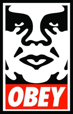 shepard fairey - obey; silly assholes getting sued right now but his art is cool nonetheless.
