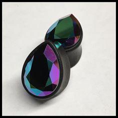 2g 6.5mm SALE Black Horn Curved Swirl Spiral Floral Wave Taper Hoop Hanger Ear Plugs 4mm 8mm Pair 6G 0G