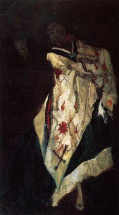Félicien Rops. La Mort au bal masqué, 1875
