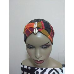 African Head Band Stretchy Kente Head Band With Cowrie Shell African... ($10) ❤ liked on Polyvore featuring accessories, hair accessories, grey, headbands & turbans, seashell headband, shell hair accessories, african turban, hair band accessories and headband turban