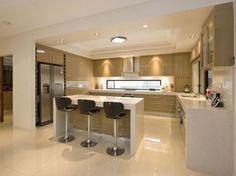 Idée relooking cuisine  Open concept kitchen floor plans as simple kitchen designs combined with some de