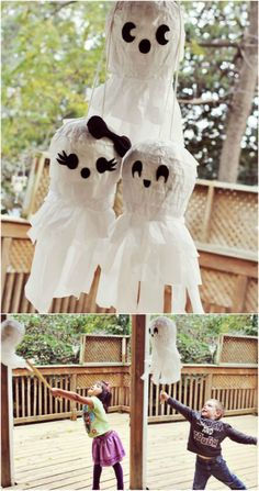 Party Piñatas. PINNING THIS TO HELP ME REMEMBER TO PUT BOWS ON A COUPLE OF MY GHOSTS THIS YEAR!!