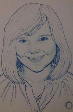 """Portrait """"Mathide"""" (prismacolor)"""