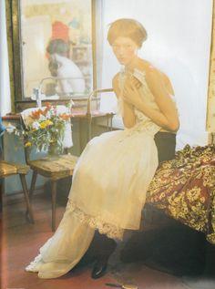 Sasha Pivovarova photographed in Kizhi, Russia by Tim Walker for Vogue UK in 2006